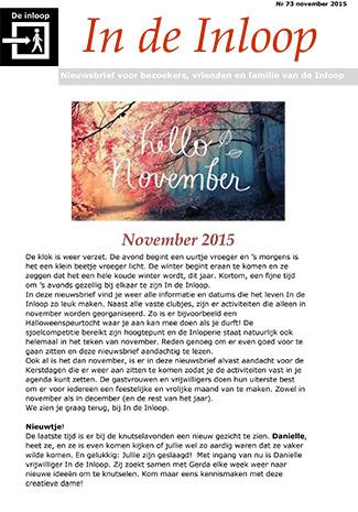 Nieuwsbrief 73 (nov-2015)